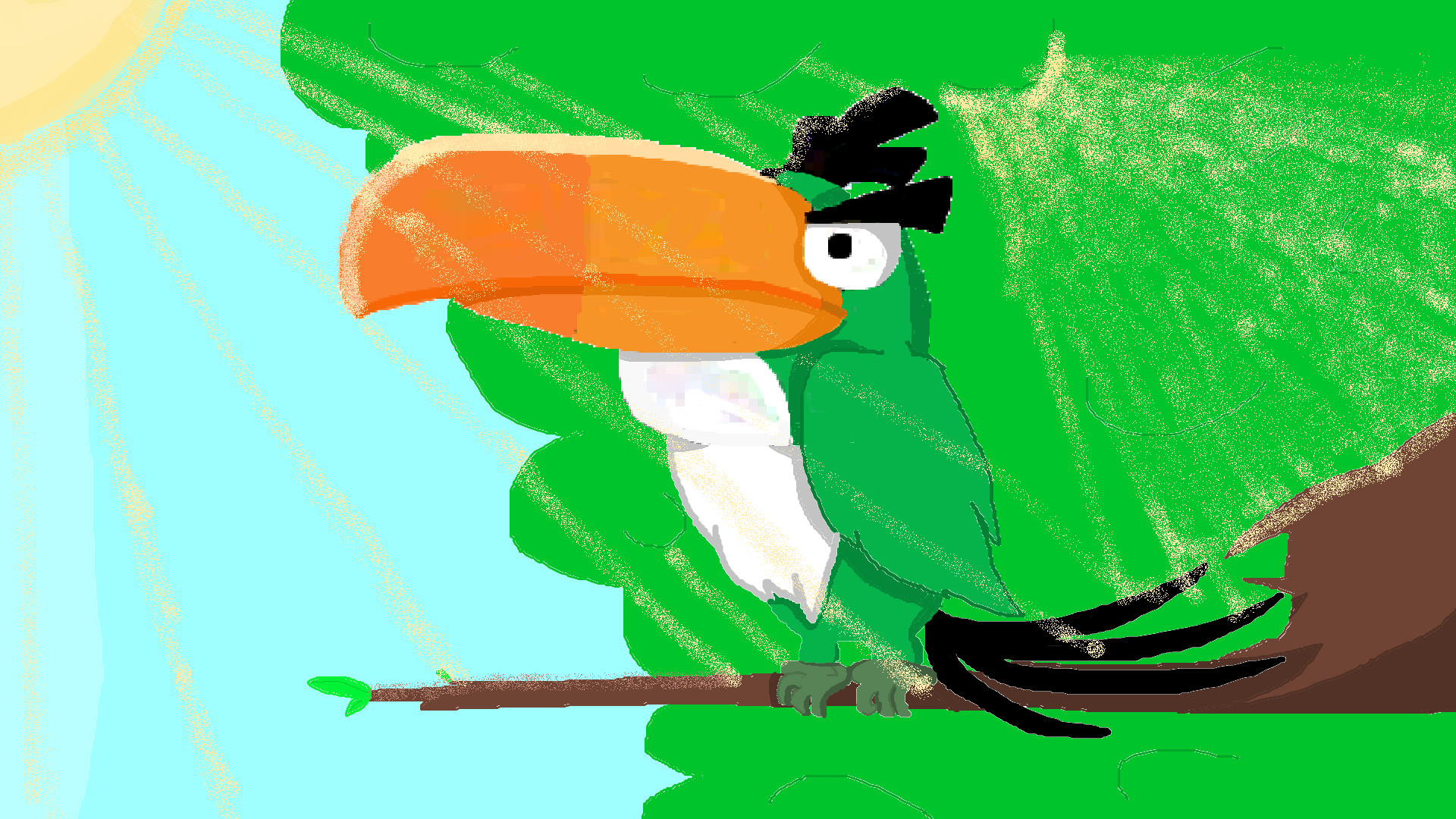 Emerald Toucanet clipart #1, Download drawings