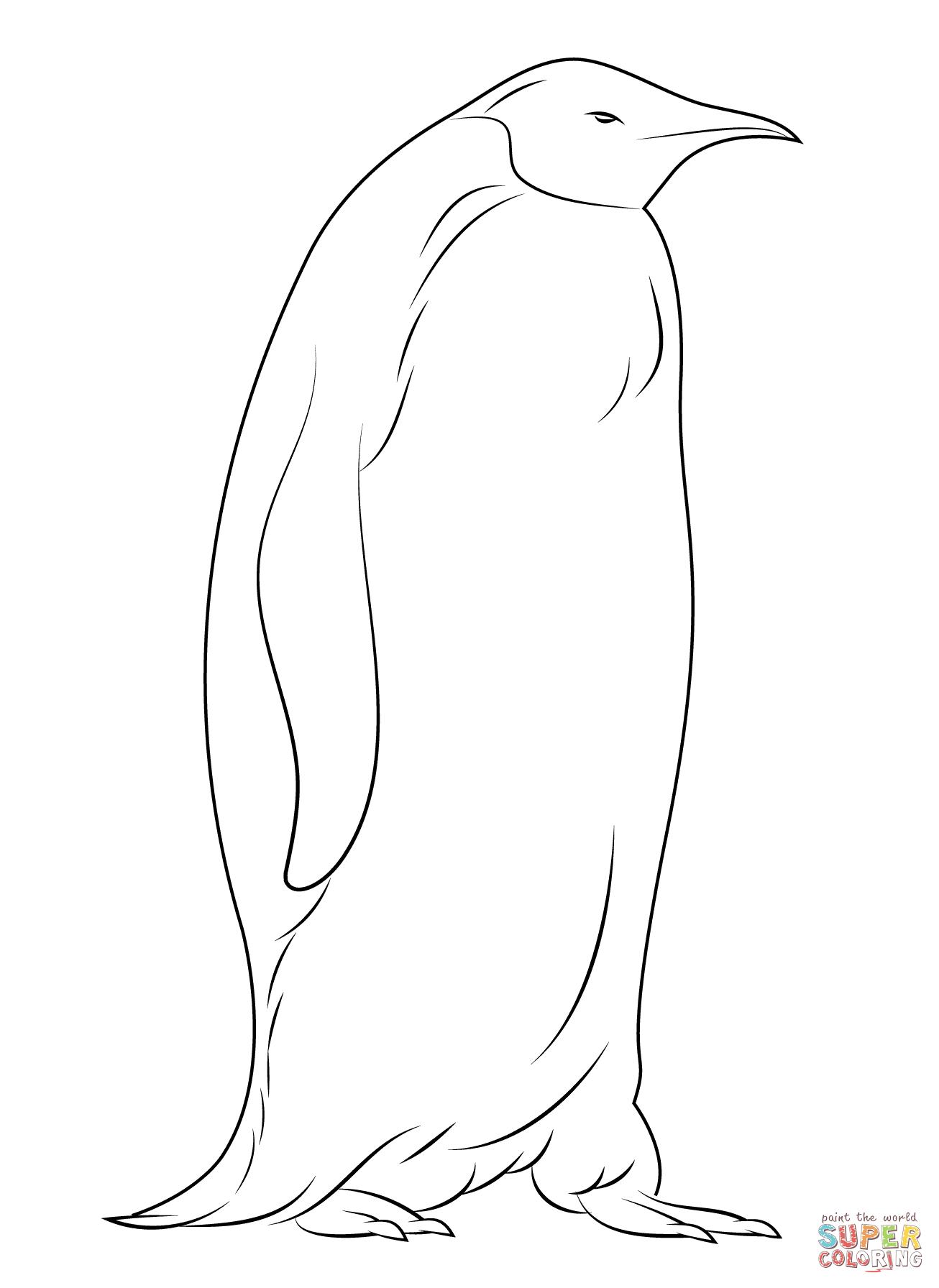 Emperor Penguin coloring #18, Download drawings