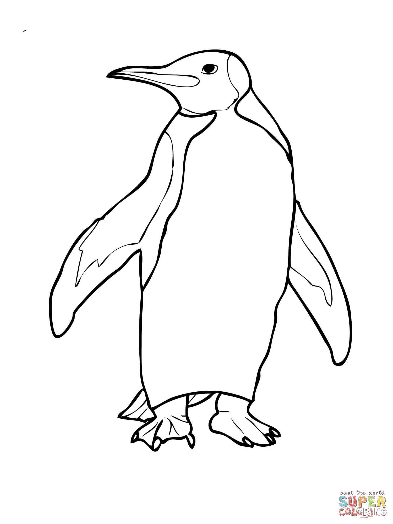 Emperor Penguin coloring #5, Download drawings