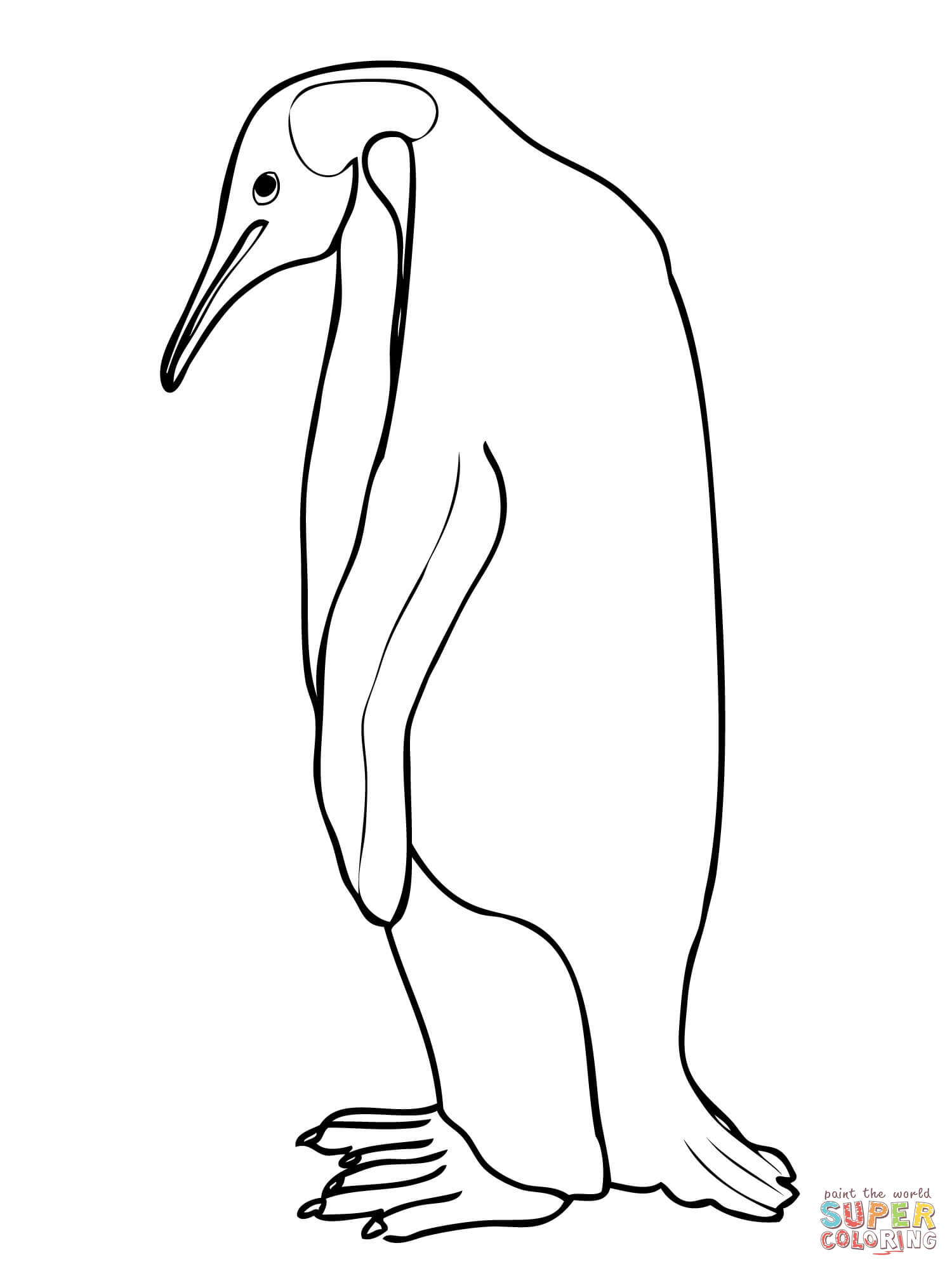 King Emperor Penguins coloring #8, Download drawings