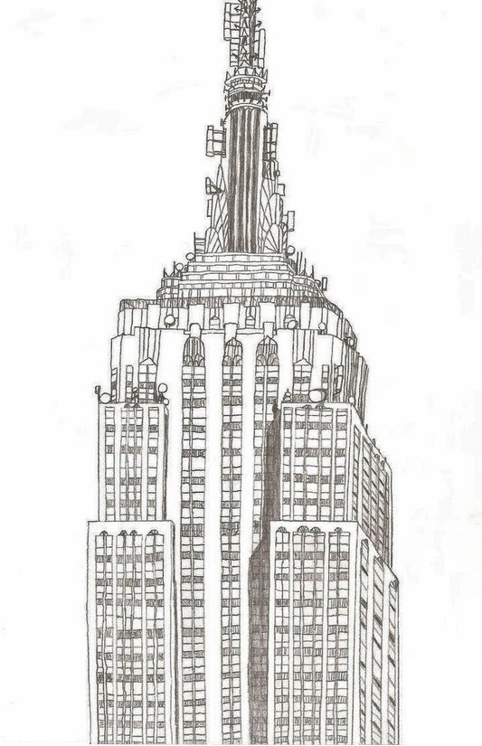 Empire State Building coloring #4, Download drawings