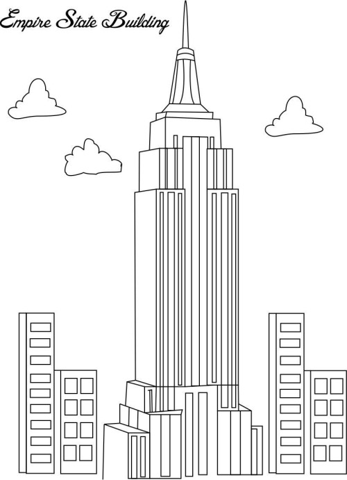 Empire State Building coloring #10, Download drawings