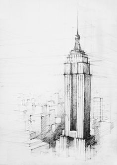 Empire State Building coloring #8, Download drawings