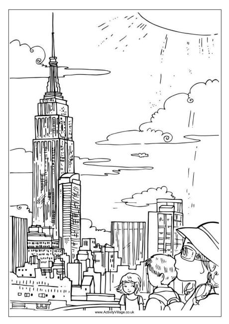 Empire State Building coloring #12, Download drawings