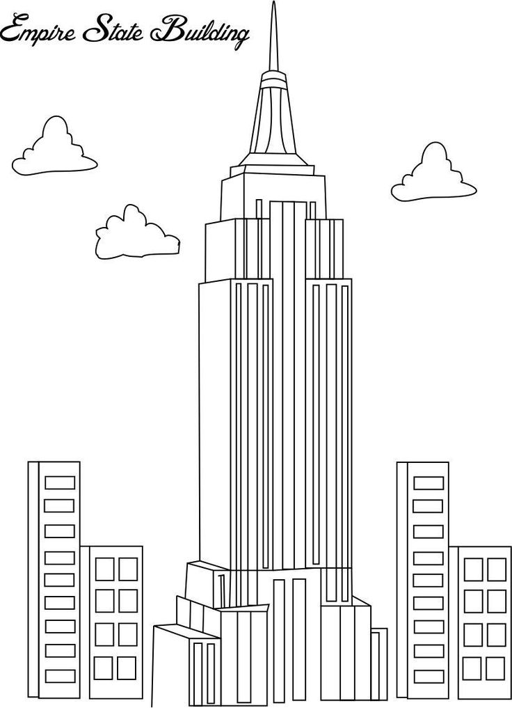 Empire State Building coloring #18, Download drawings