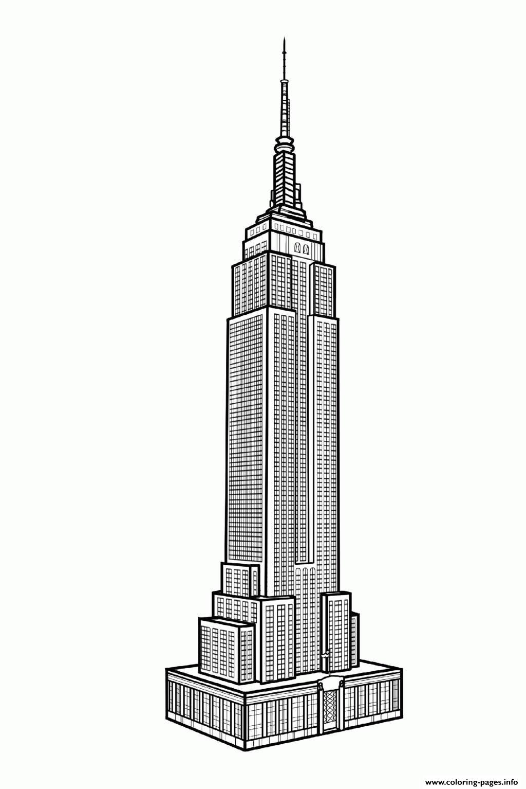 Empire State Building coloring #3, Download drawings