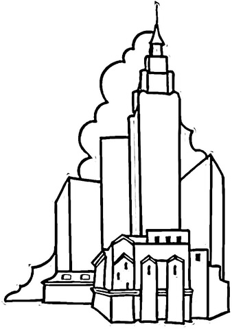Empire State Building coloring #11, Download drawings