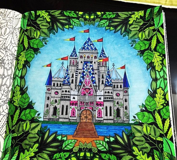 Enchanted Castle coloring #10, Download drawings