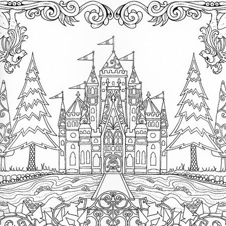 Enchanted Castle coloring #1, Download drawings
