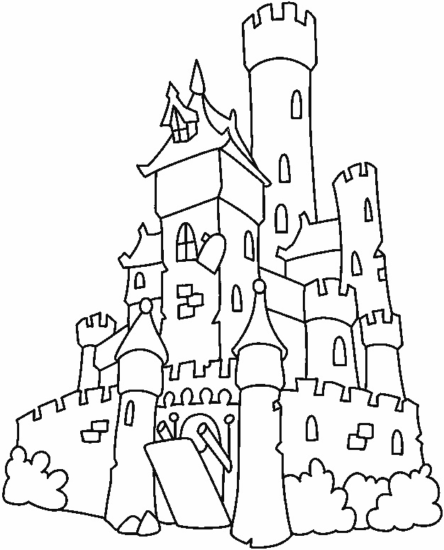 Enchanted Castle coloring #5, Download drawings