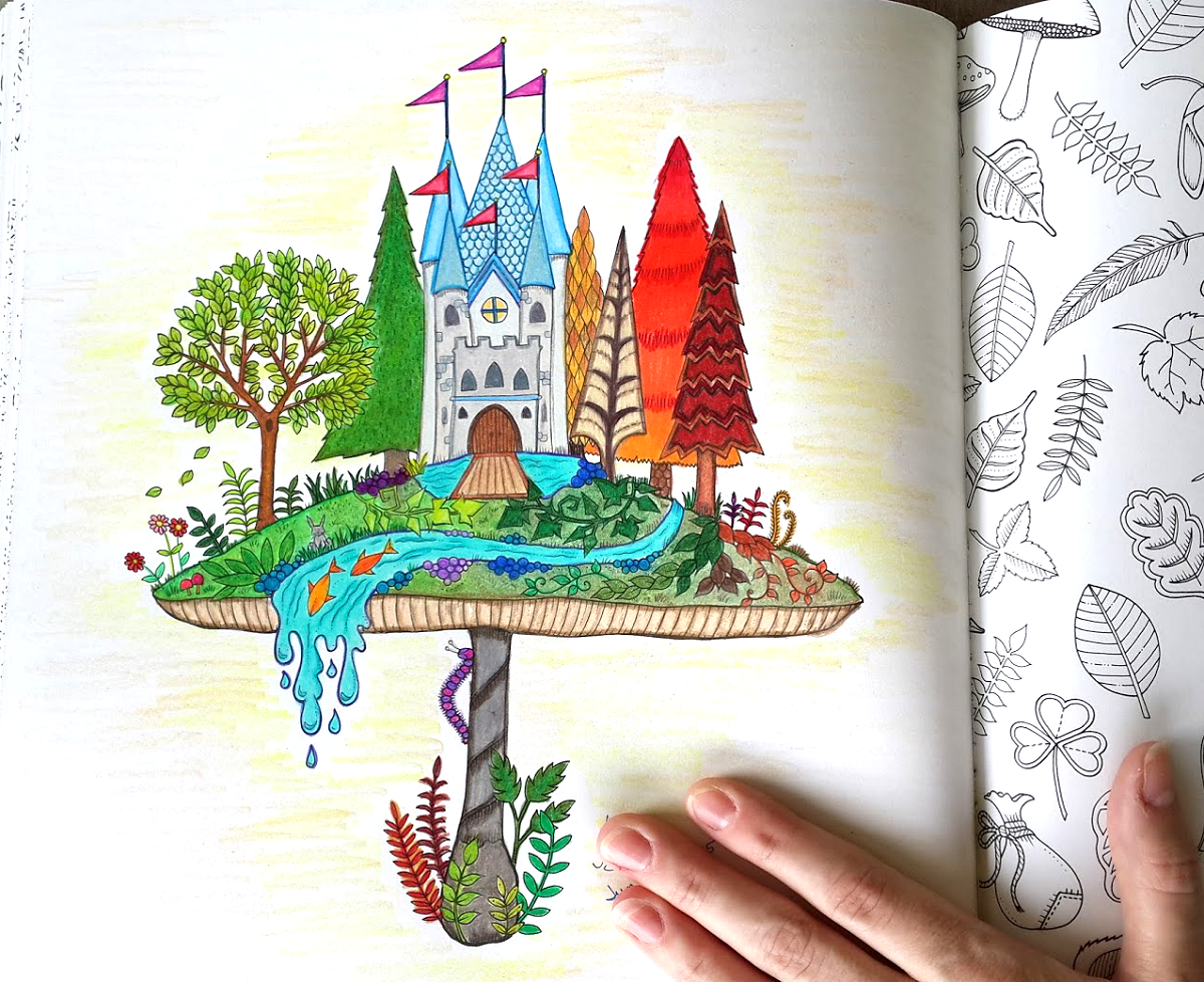 Enchanted Castle coloring #2, Download drawings