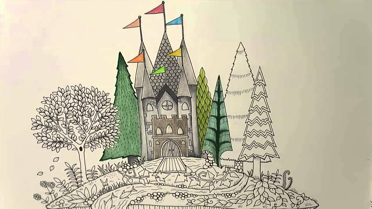 Enchanted Castle coloring #19, Download drawings