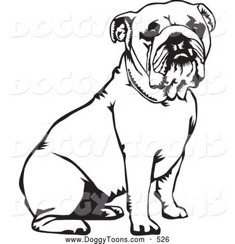 English Bulldog coloring #14, Download drawings