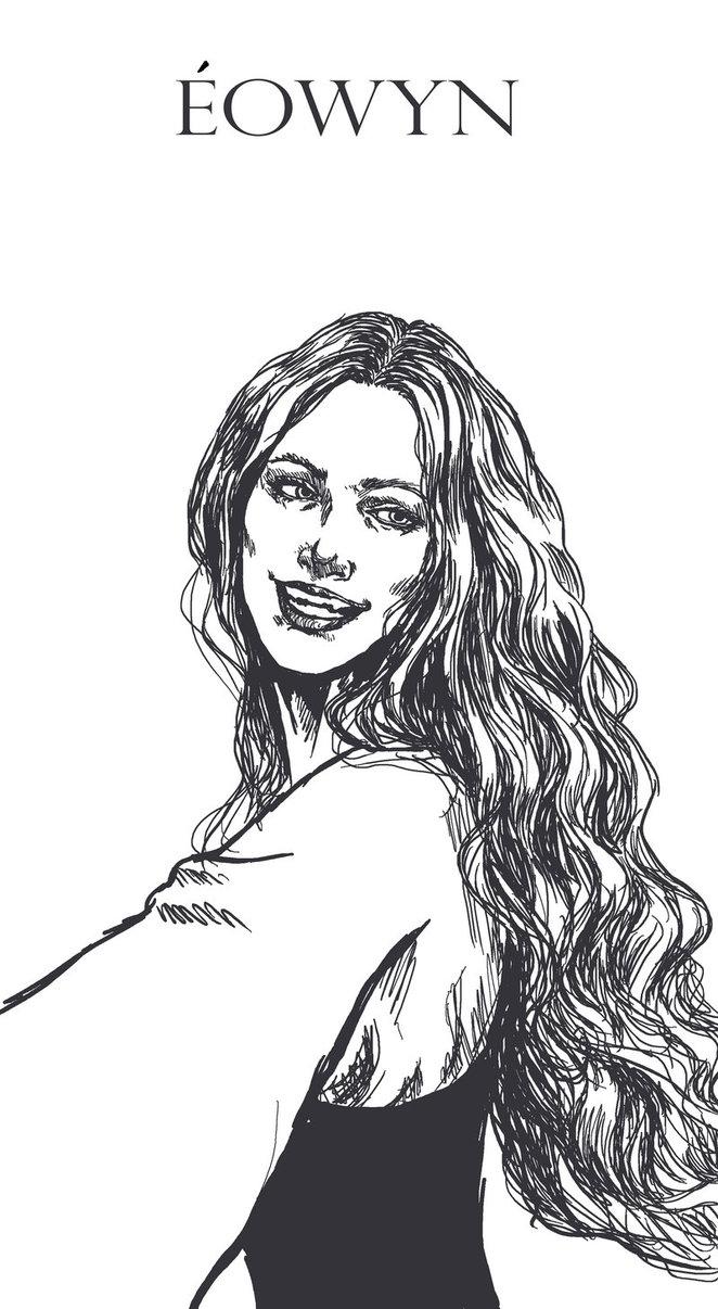 Eowyn coloring #2, Download drawings