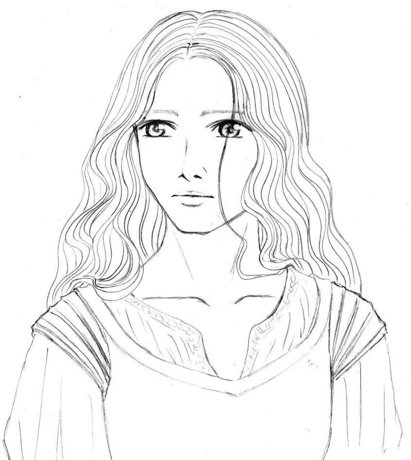 Eowyn coloring #4, Download drawings