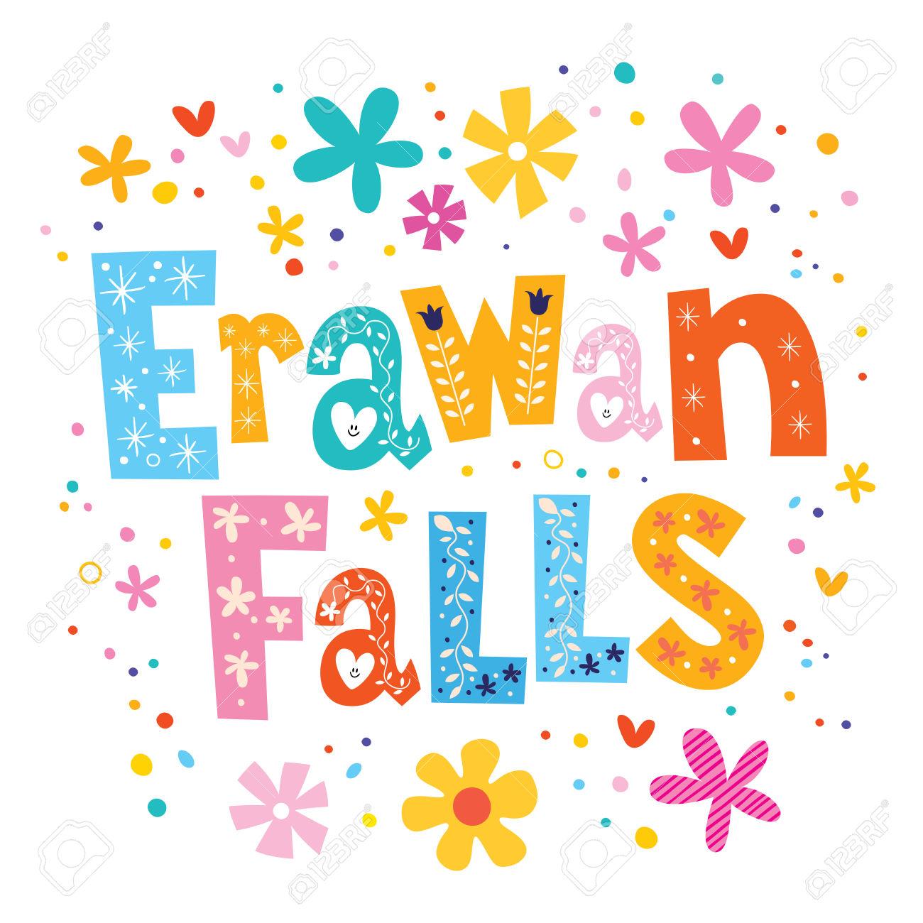Erawan Falls clipart #1, Download drawings