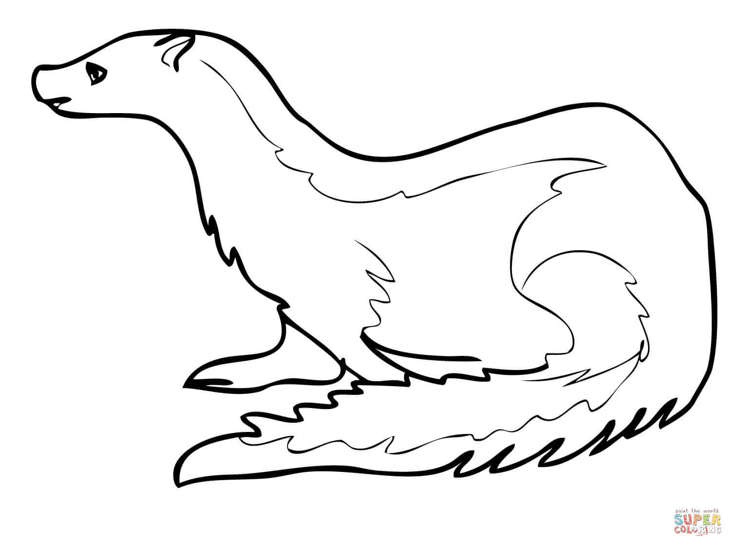 Ermine coloring #7, Download drawings