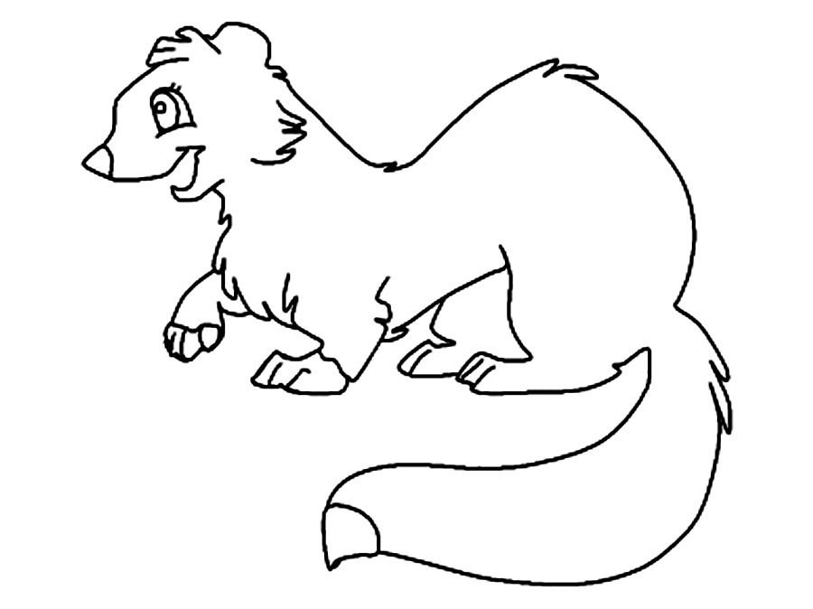 Ermine coloring #10, Download drawings