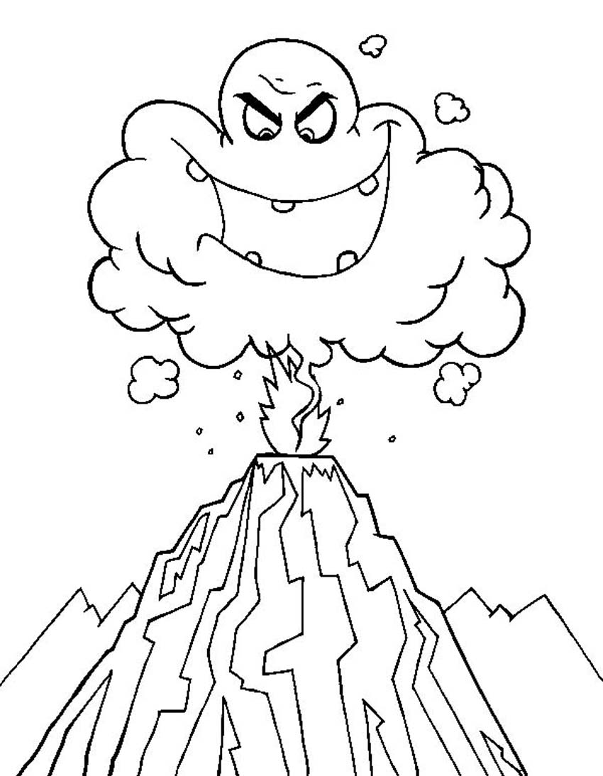 Eruption coloring #2, Download drawings