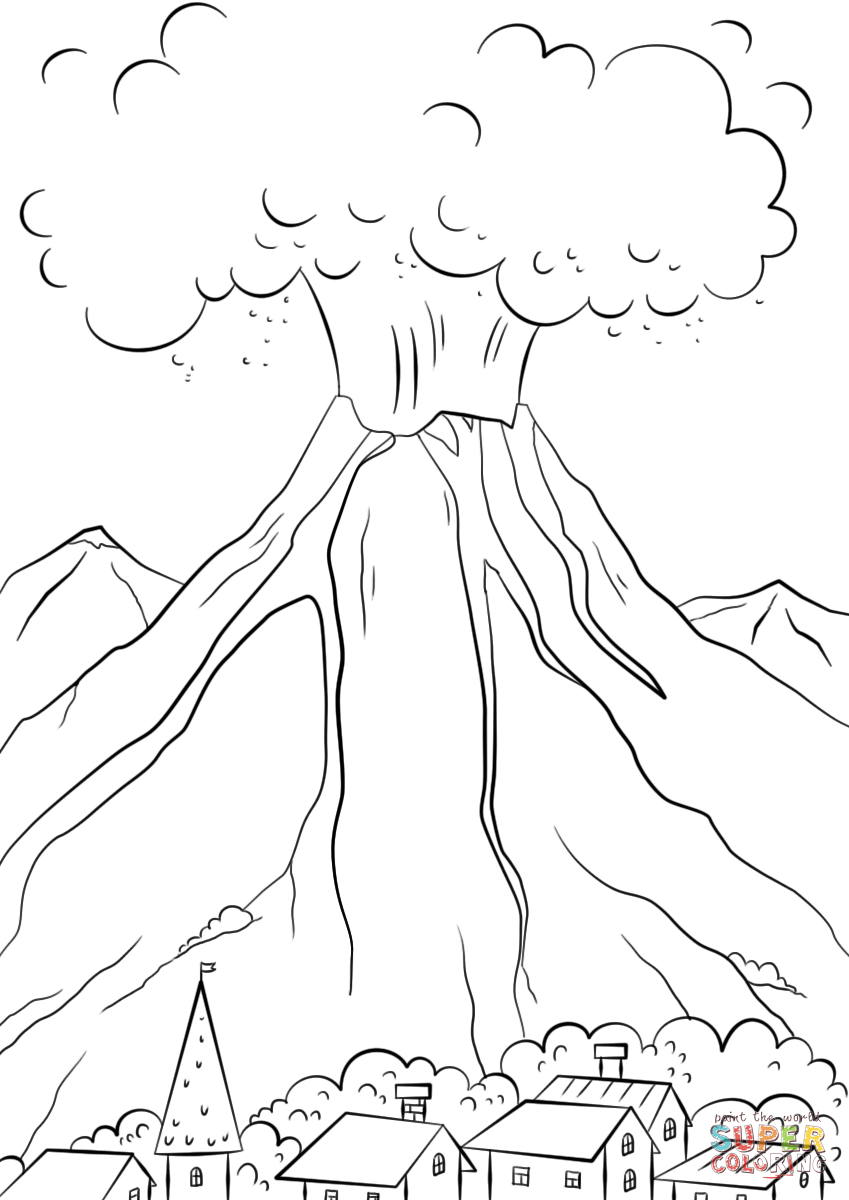 Eruption coloring #11, Download drawings