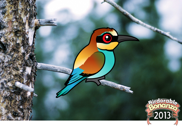 Green Bee-eater coloring #8, Download drawings