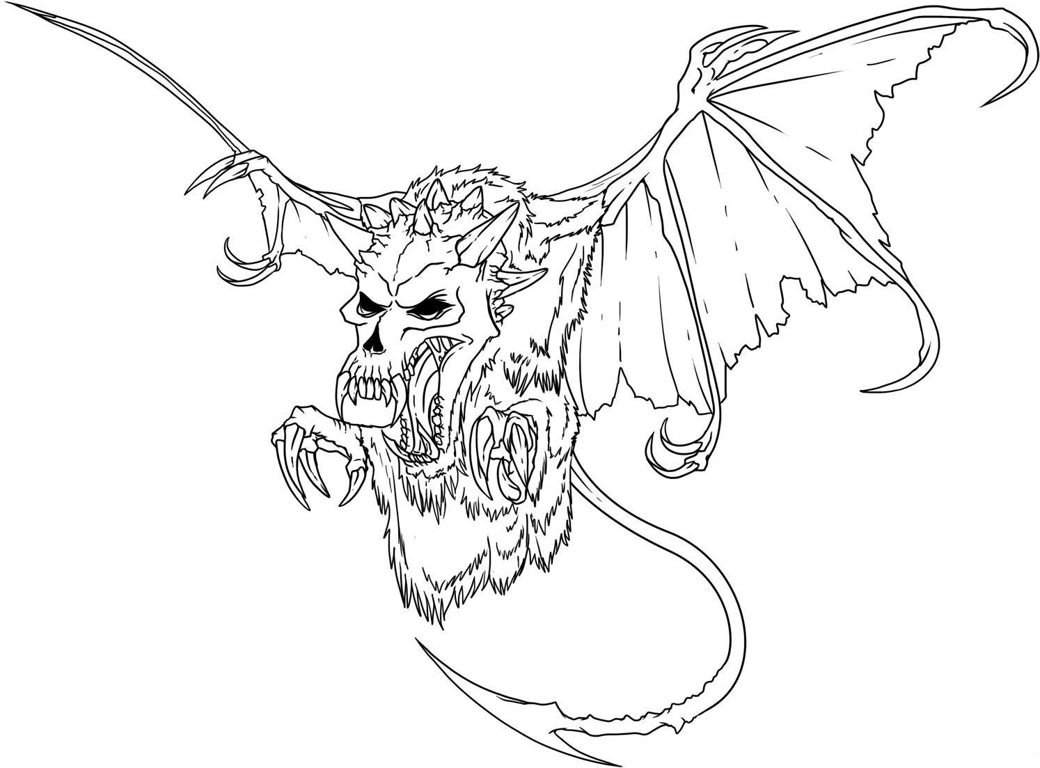 Evil coloring #18, Download drawings
