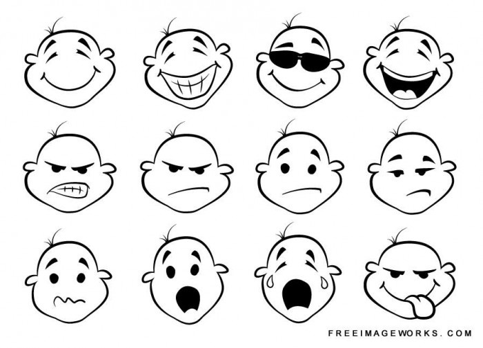 Expression clipart #6, Download drawings