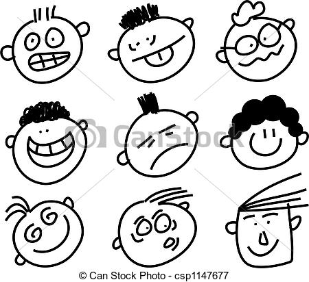 Expressive clipart #18, Download drawings