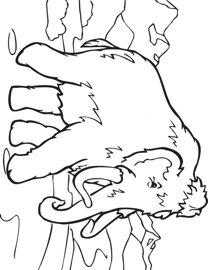 Woolly Mammoth coloring #17, Download drawings
