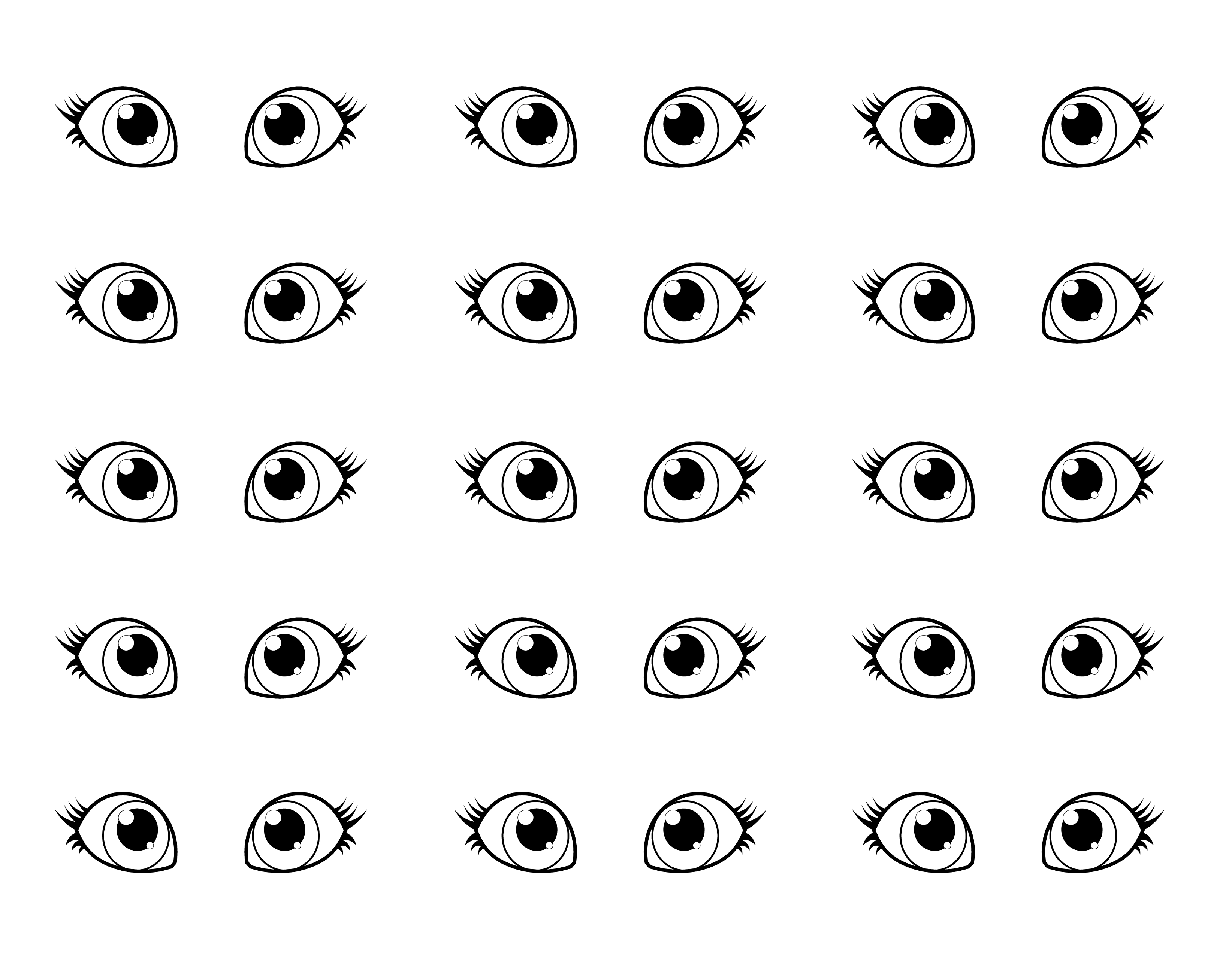 Eye coloring #10, Download drawings