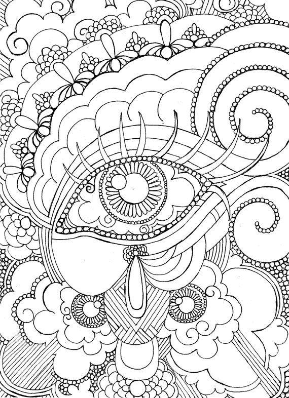 Eye coloring #13, Download drawings
