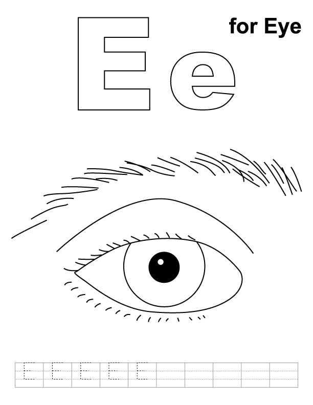 Eye coloring #12, Download drawings