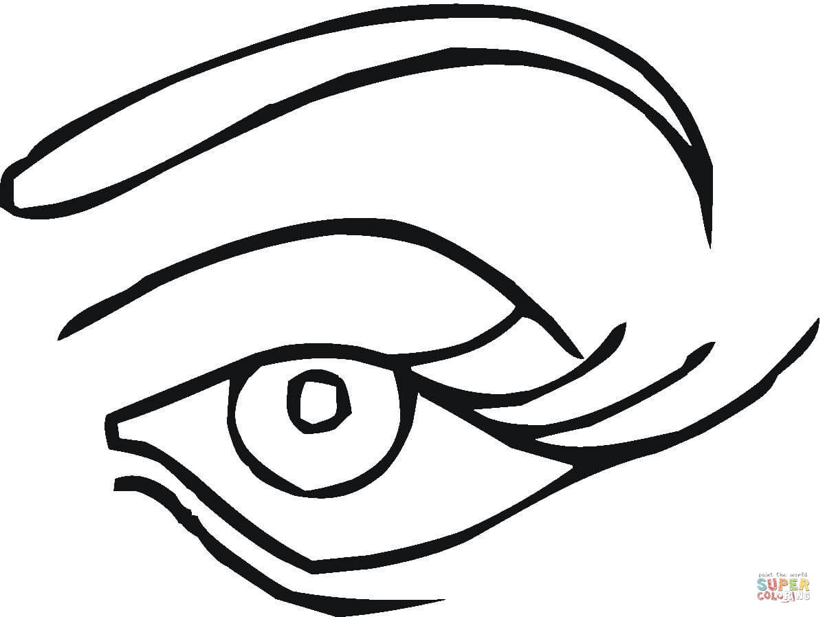 Eye coloring #19, Download drawings