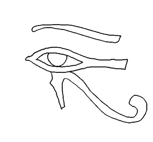 Eye Of Horus coloring #15, Download drawings