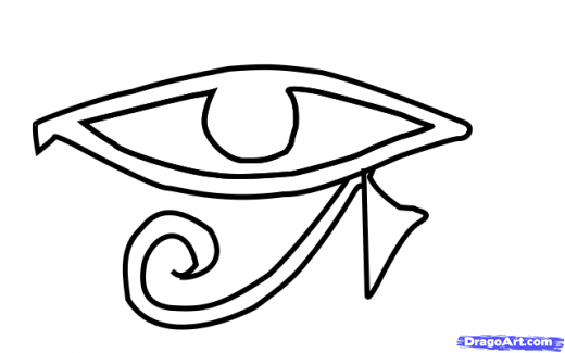 Eye Of Horus coloring #14, Download drawings