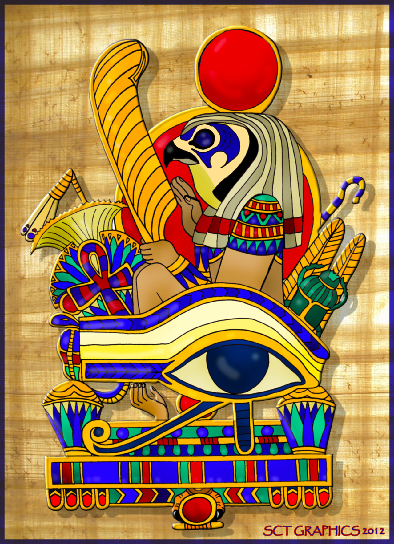 Eye Of Horus coloring #1, Download drawings