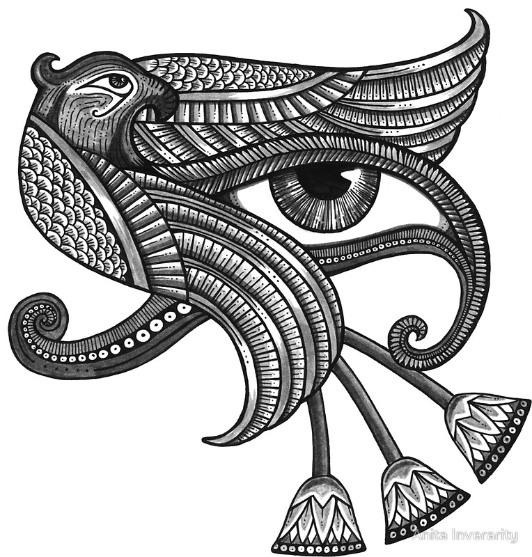 Eye Of Horus coloring #4, Download drawings