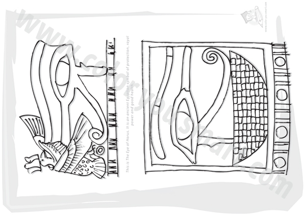 Eye Of Horus coloring #10, Download drawings