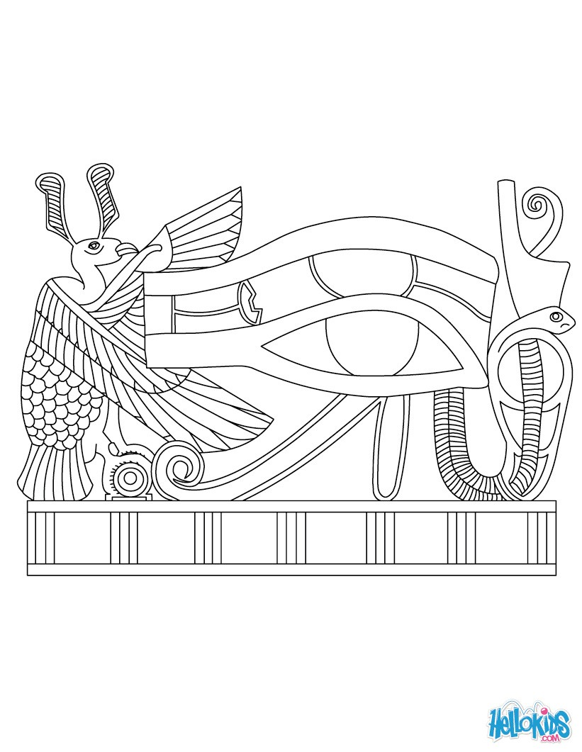 Eye Of Horus coloring #16, Download drawings