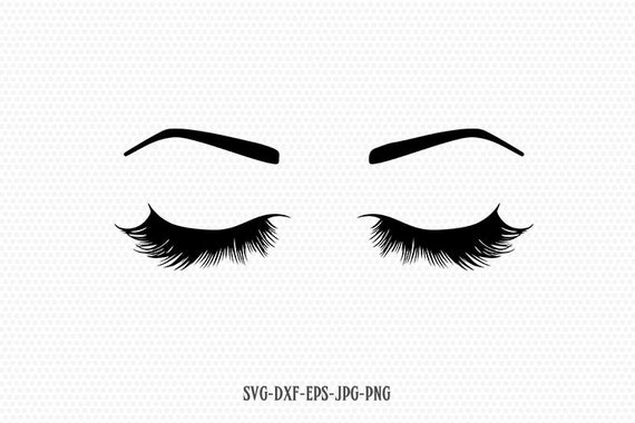 eyelashes svg #601, Download drawings