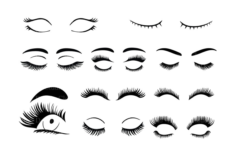 eyelashes svg #602, Download drawings