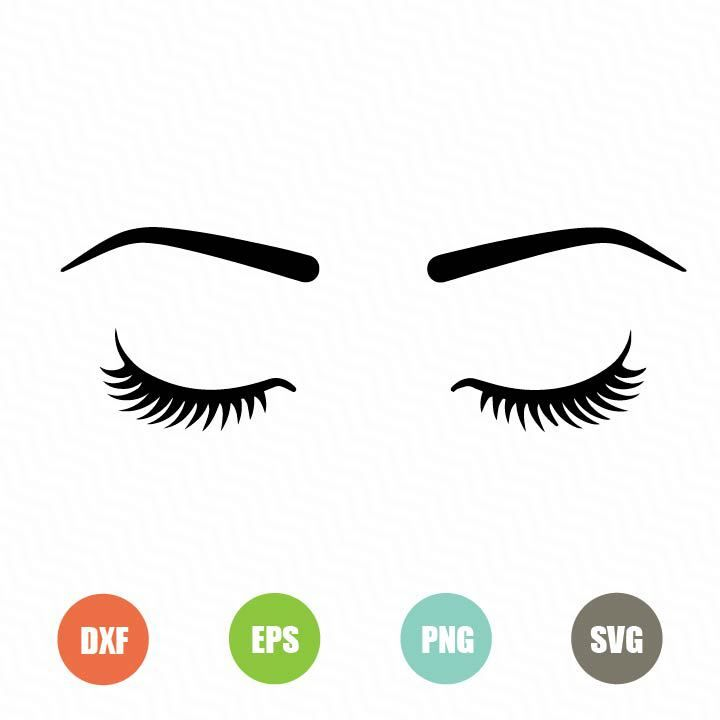eyelashes svg #599, Download drawings