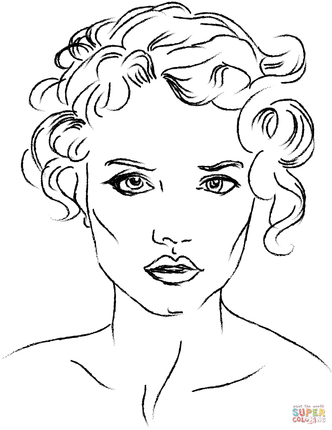 Face coloring #15, Download drawings