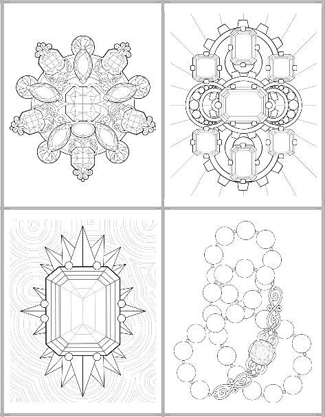 Facets coloring #3, Download drawings