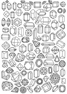 Facets coloring #16, Download drawings