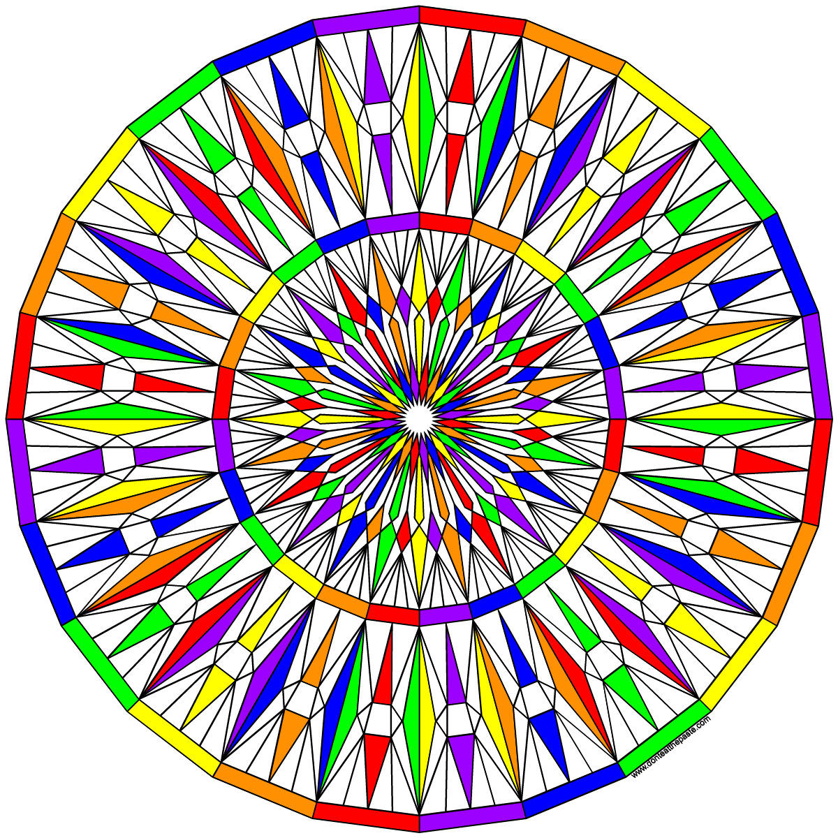 Facets coloring #9, Download drawings