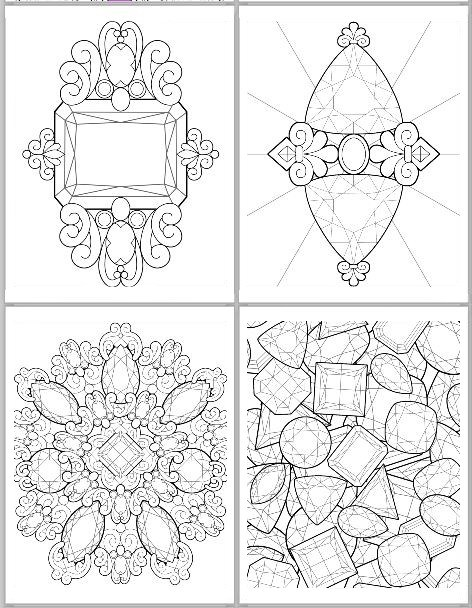 Facets coloring #15, Download drawings