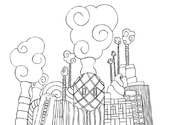 Factory coloring #9, Download drawings