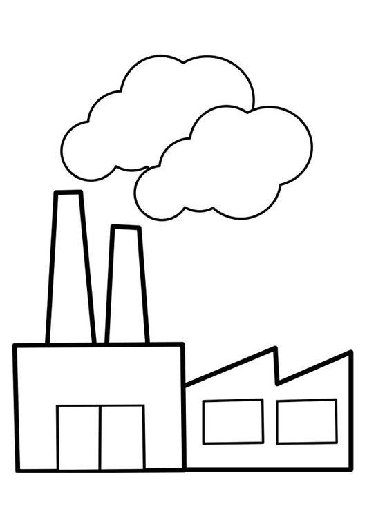 Factory coloring #6, Download drawings