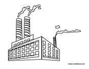 Factory coloring #5, Download drawings